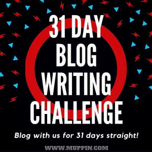 31 Day blogging challenge logo