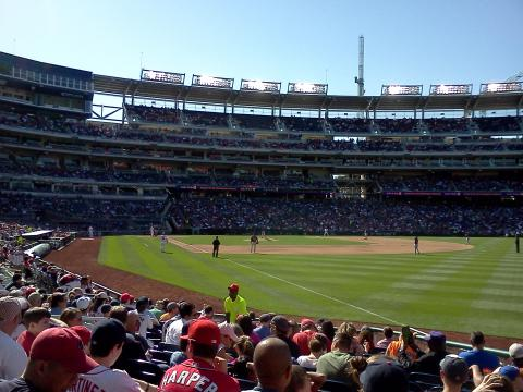 Pic from Red-Sox vs Nats