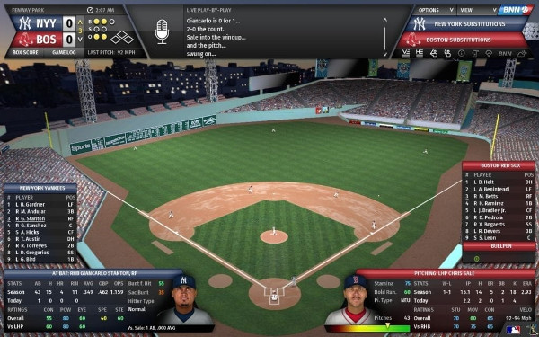 Out of the park baseball screenshot